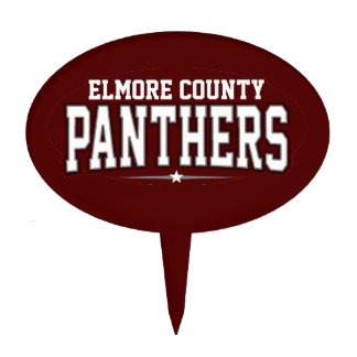 Elmore County High School; Panthers Oval Cake Toppers