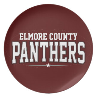 Elmore County High School; Panthers Dinner Plates