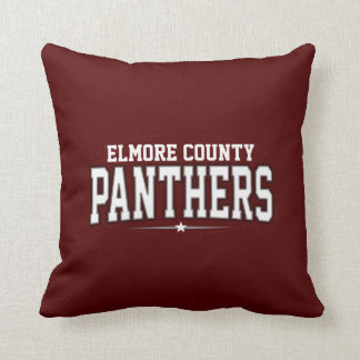 Elmore County High School; Panthers Throw Pillows
