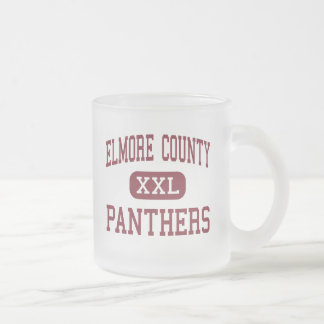 Elmore County - Panthers - High - Eclectic Alabama Frosted Glass Coffee Mug