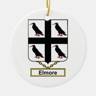 Elmore Family Crest Christmas Tree Ornaments