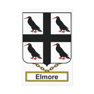 Elmore Family Crest Gallery Wrapped Canvas
