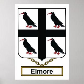 Elmore Family Crest Poster