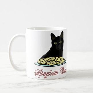 Elocuencia del gato de los espaguetis taza