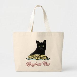 Elocuencia del gato de Spagehetti Bolsas De Mano