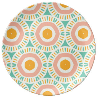 Elogie el constante amistoso de principios plato de cerámica