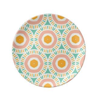 Elogie el constante amistoso de principios platos de cerámica