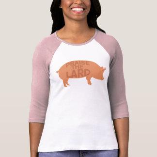 Elogie la camiseta de la manteca de cerdo