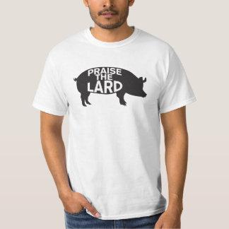 Elogie la camiseta de la manteca de cerdo poleras