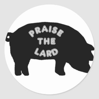 Elogie la manteca de cerdo pegatina redonda