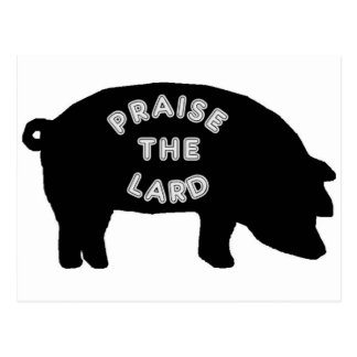 Elogie la manteca de cerdo tarjeta postal