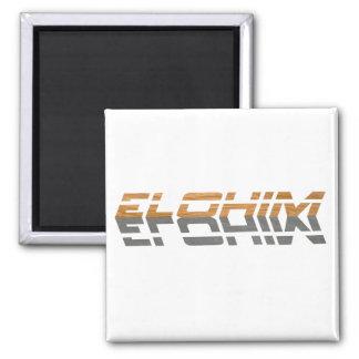 Elohim reflet Terre Gris 2 Inch Square Magnet