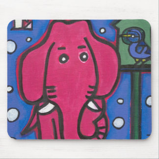 eloise the elephant loves her bird Mouse Mat Mouse Pads