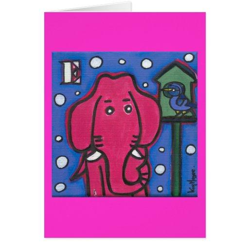 eloise the elephant loves her bird Note Card