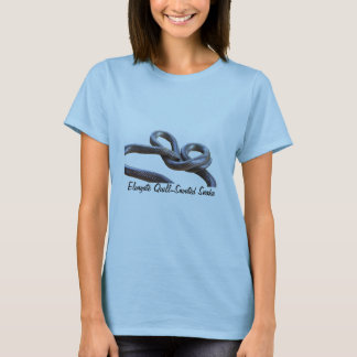 Elongate Quill-Snouted Snake Ladies Baby Doll T-Shirt
