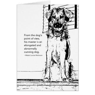 Elongated Dog Cards