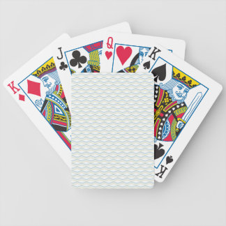 Elongated ZigZags in Gold & Blue Bicycle Playing Cards