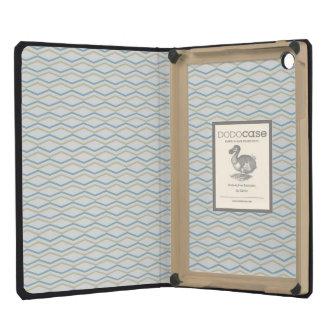 Elongated ZigZags in Gold & Blue iPad Mini Cover