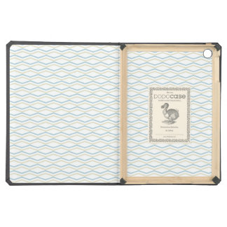 Elongated ZigZags in Gold & Blue Case For iPad Air