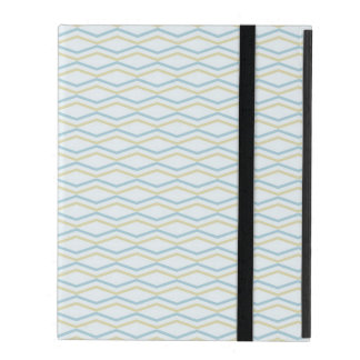 Elongated ZigZags in Gold & Blue iPad Cases
