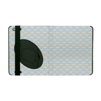 Elongated ZigZags in Gold & Blue iPad Covers