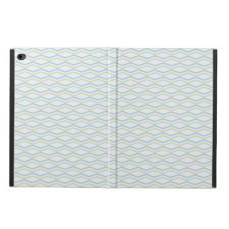 Elongated ZigZags in Gold & Blue Powis iPad Air 2 Case