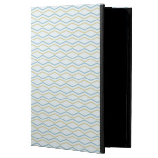 Elongated ZigZags in Gold & Blue iPad Air Case
