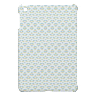 Elongated ZigZags in Gold & Blue iPad Mini Covers