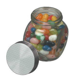 Elongated ZigZags in Gold & Blue Jelly Belly Candy Jar