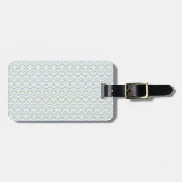 Elongated ZigZags in Gold & Blue Luggage Tag