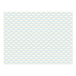 Elongated ZigZags in Gold & Blue Postcard