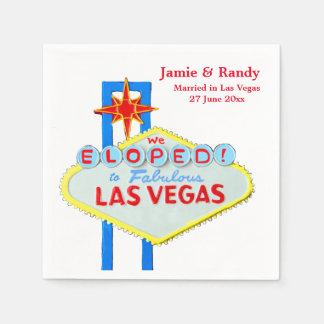 Elope Las Vegas Nevada Marriage Standard Cocktail Napkin