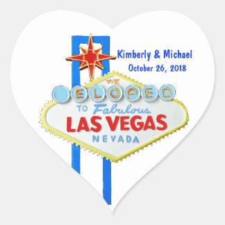 Elope Las Vegas Pegatina En Forma De Corazón