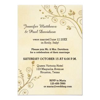 Elope o fije la invitación del banquete de boda