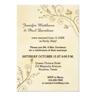 Elope or Post Wedding Party Invitation