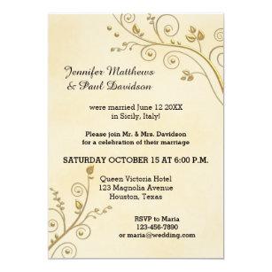 floral post elopement party invitations zazzle