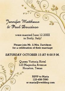 post wedding party invitations announcements zazzle