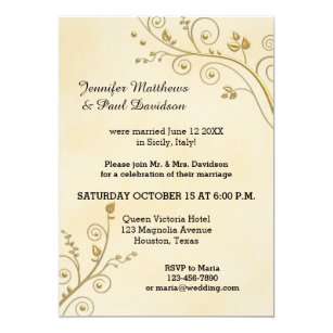 Lovely Elope Or Post Wedding Party Invitation