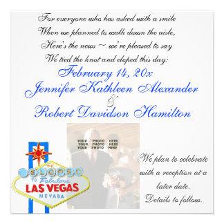 Eloped a la invitación de la foto del recién casad
