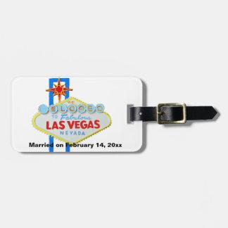 Eloped a Las Vegas que casaban el recuerdo Etiquetas Para Maletas