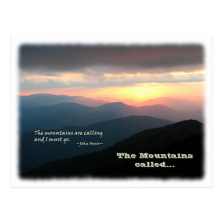 Eloped in the Mountains / Mtns Called - We Eloped! Postcard