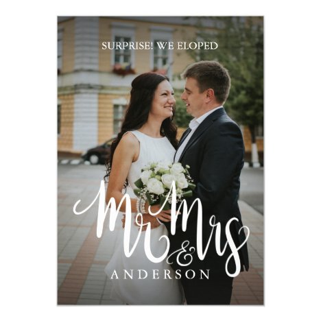 Eloped Mr Mrs [Last Name] Marriage Announcement