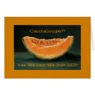 Elopement Announcement: Cantaloupe, Pun, Funny Greeting Cards