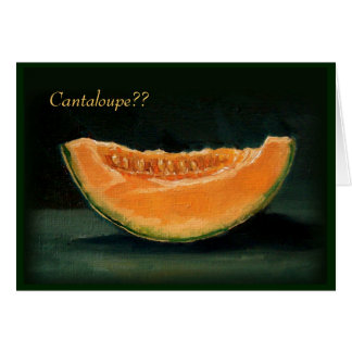 ELOPEMENT ANNOUNCEMENT: FUNNY: CANTALOUPE CARD