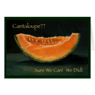 ELOPEMENT ANNOUNCEMENT: FUNNY: CANTELOUPE GREETING CARD