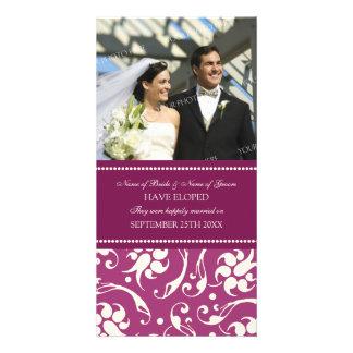 Elopement Announcement Photo Card Pink Cream