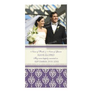 Elopement Announcement Photo Card Plum Cream