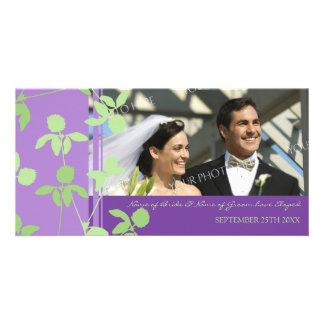 Elopement Announcement Photo Card Purple Green