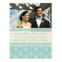 Elopement Photo Postcards Aqua Cream