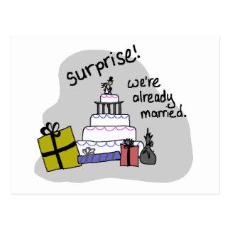 elopement announcement postcard